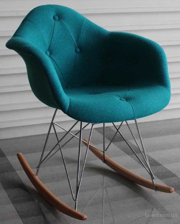 Кресло-качалка Пэрис Р шерсть бирюзовая