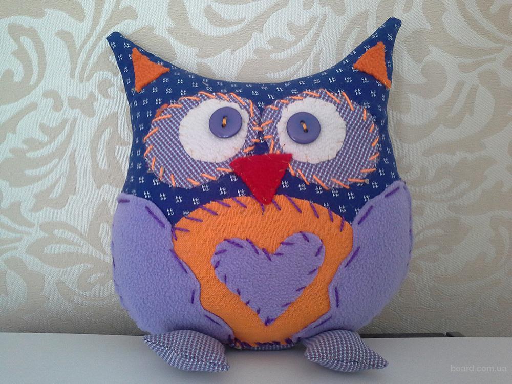 Сова - мягкая игрушка ручной работы (хэнд-мейд)- оригинальный подарок