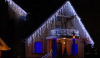 Новогоднее оформление торговых центров, украшение деревьев гирляндами. Монтаж световых гирлянд.
