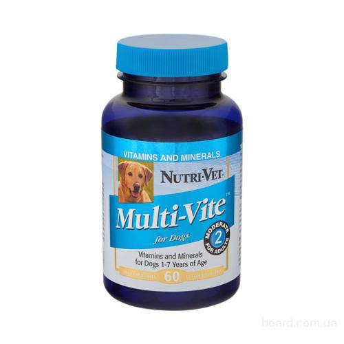 Витамины для собак Нутри-Вет «Мульти-вит», 240 табл.