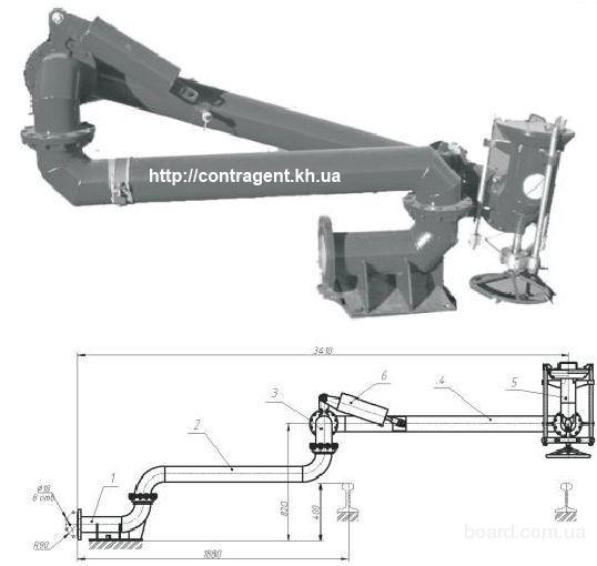 Установка нижнего слива-налива УСН-150, устройство УСН 175, сливная головка ГС.