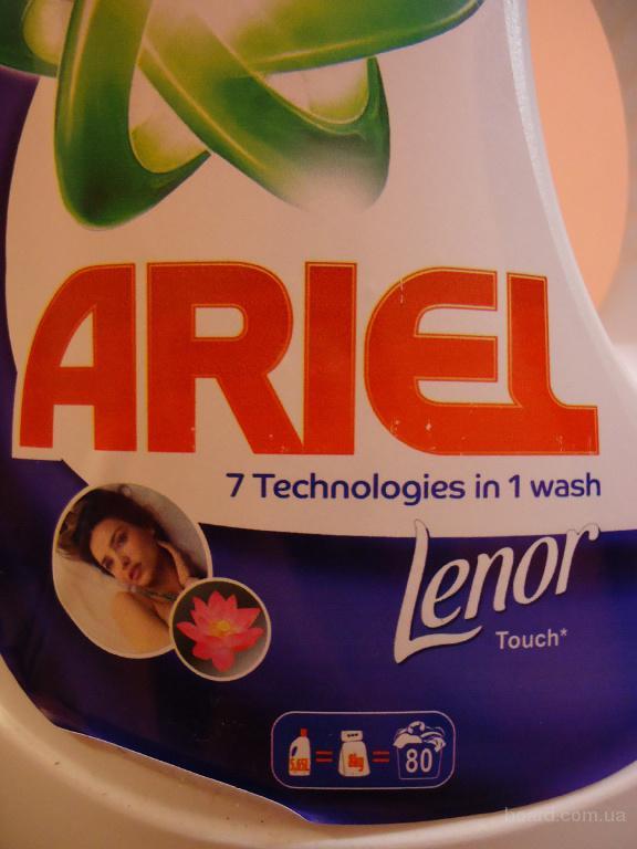 Оригинальный гель для стирки Ariel+Lenor automat 5,65 литра (7 Technologies in 1 wash).