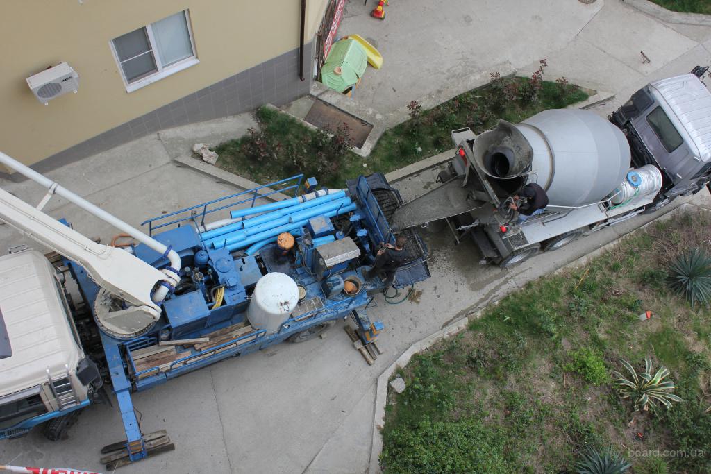 Подача бетона на высоту