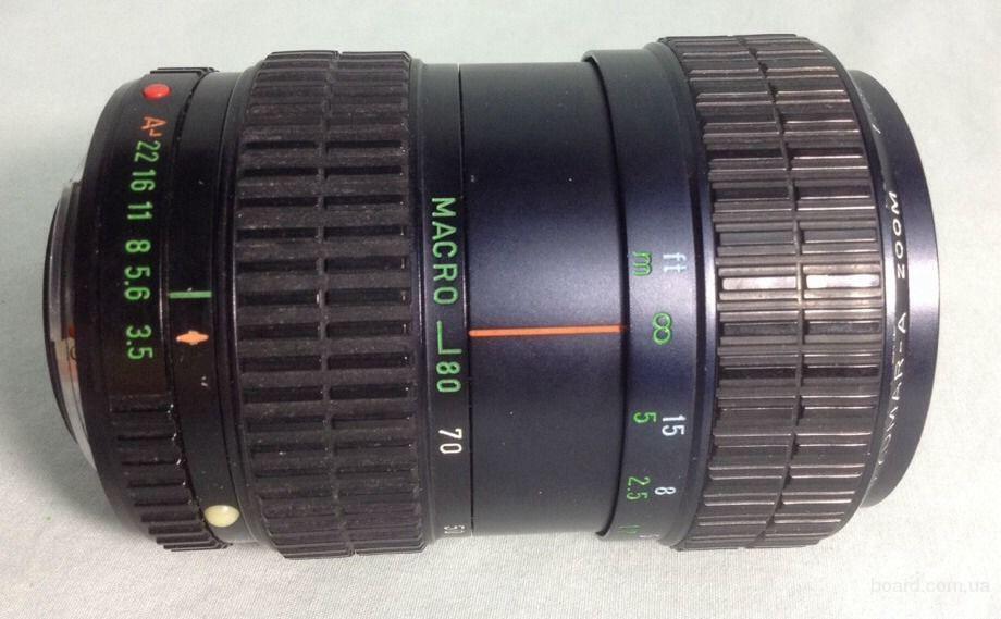 Pentax Takumar-A 28-80mm 1:3.5-4.5. Mануальный фокус, авто диафрагма