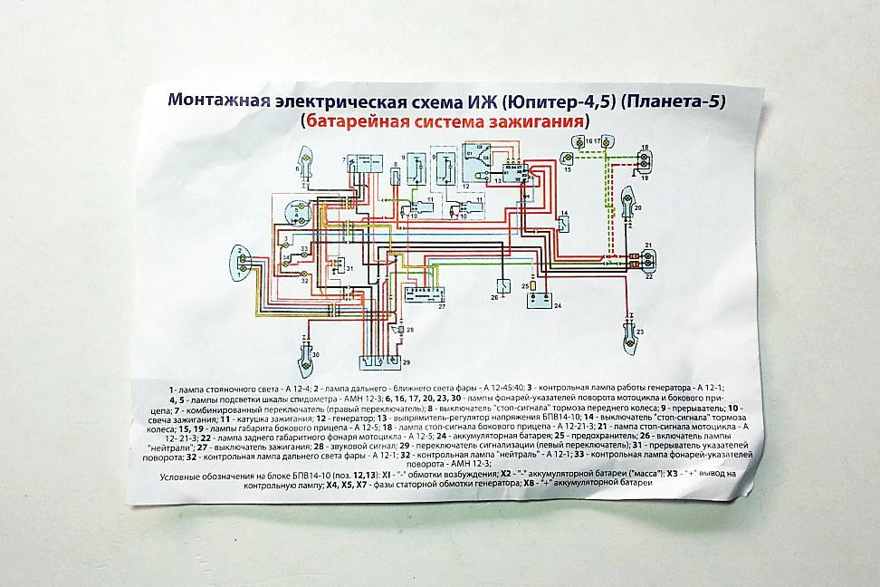 Проводка центральная 12V