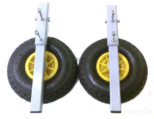 Транцевые колеса Трансформеры КТ-5 для надувных моторных лодок сделано в Украине.