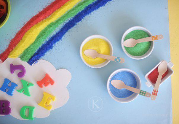 Цветной песок для детей, песок для рисования, Трафареты для рисования цветным песком