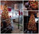 Новогодняя иллюминация, украшение новогодней гирляндой фасада Уличное украшение светодиодной гирляндой, украшение