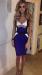 Восхитительное синее модное бандажное платье Herve Leger 744