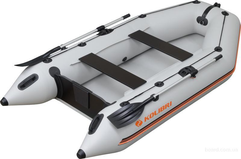 Новая надувная лодка Колибри КМ-300 белая (светло-серая)