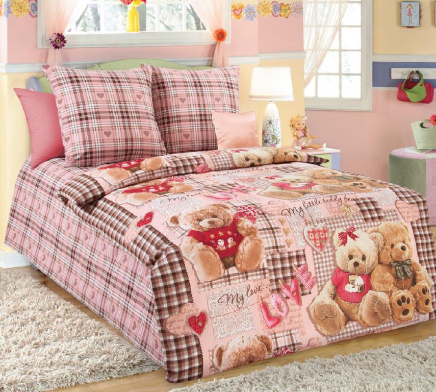 Детское постельное белье недорого, Комплект Плюшевые мишки