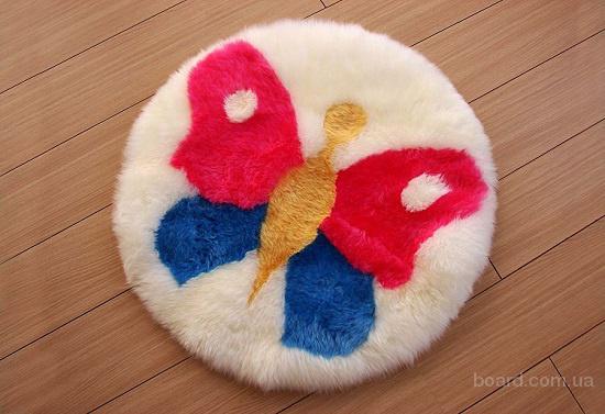 Веселый детский коврик из шкуры мериноса Бабочка Bowron Kids Butterfly