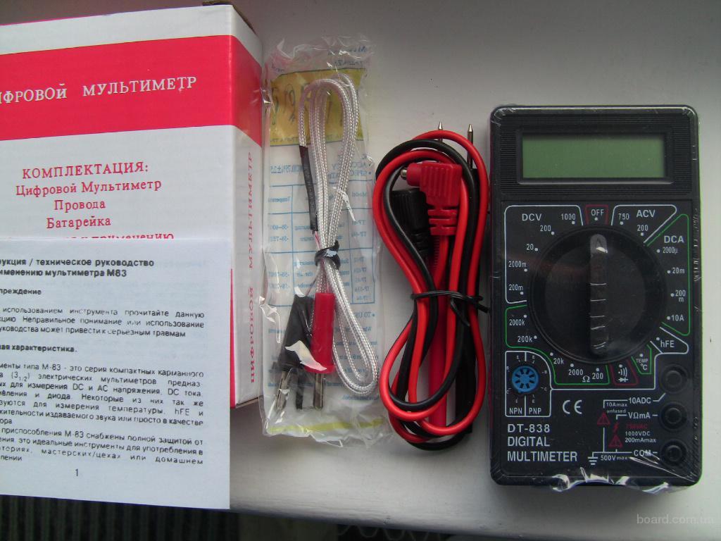 Мультиметр тестер DT 838