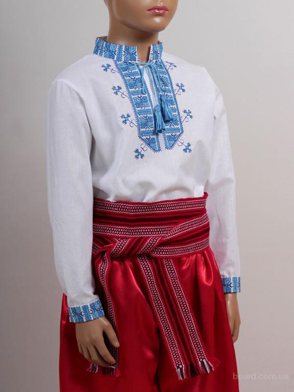 """Вишиванка """"Полуботок"""" (синя)"""
