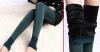 Лосины Женские На Меху - Цвета зеленый, коричневый, серый