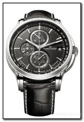 Мужские часы Maurice Lacroix Pontos Round Chronograph Valgranges Киев Украина Kiev Ukraine