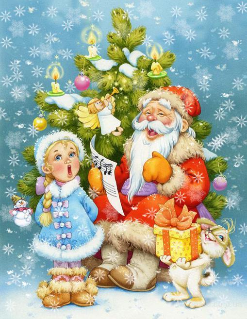 поздравления от деда мороза и снегурочки для детей текст