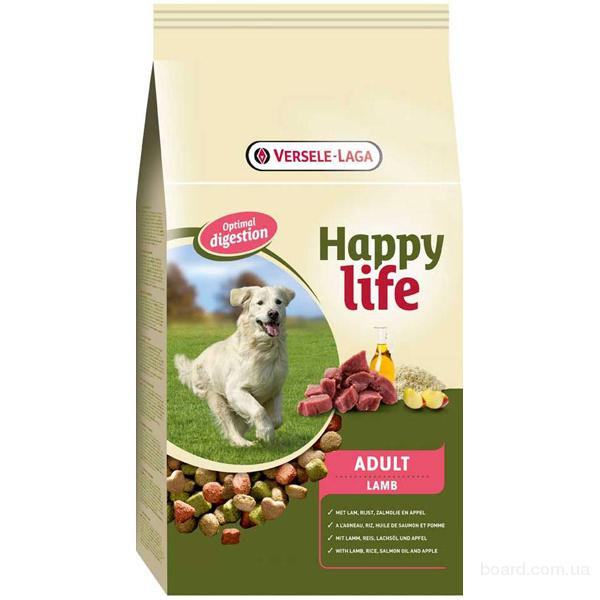 Корм дя собак Happy Life Adult Lamb с ягненком