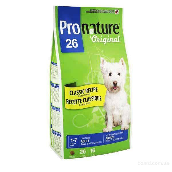 Корм для собак Pronature Original Adult Medium Small - для взрослых собак средних и малых пород