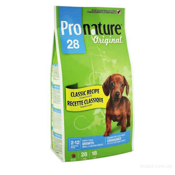 Корм для щенков Pronature Original Puppy Medium Small для щенков средних и малых пород