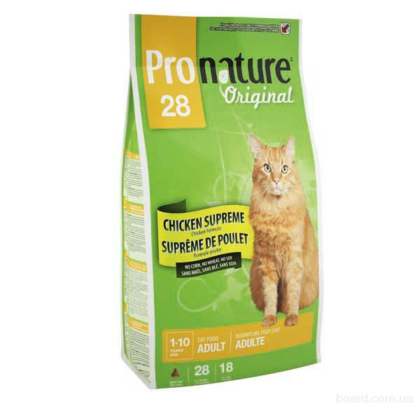 Корм для кошек Pronature Original Adult Chicken Supreme с курицей