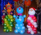 Оформление воздушными шарами к новому году!