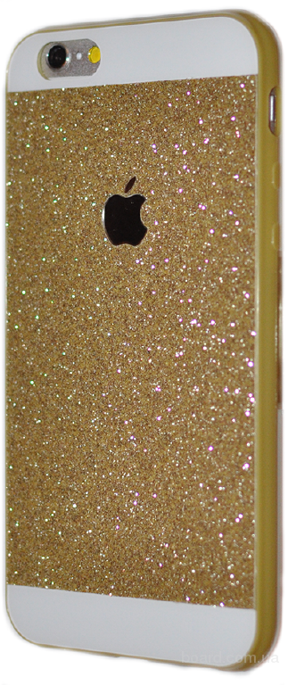 Силиконовый чехол с блеском для iPhone 6
