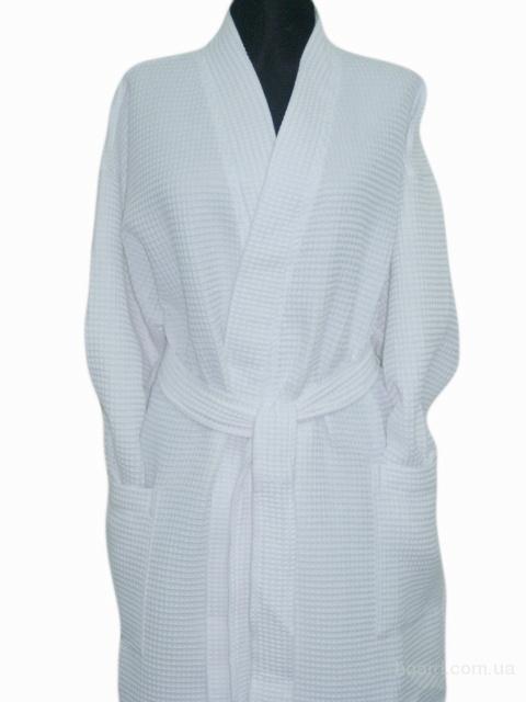 белые вафельные халаты
