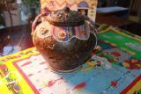 Сувенирный чайник из пресованного зеленого чая