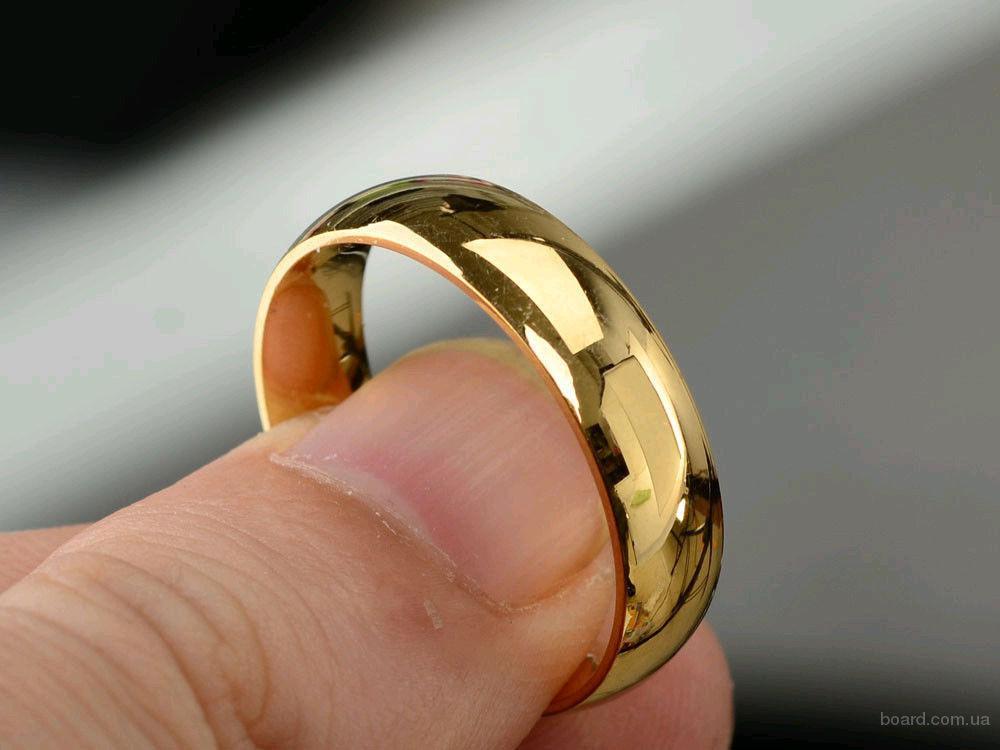 Кольцо обручальное покрытое золотом 14 карат