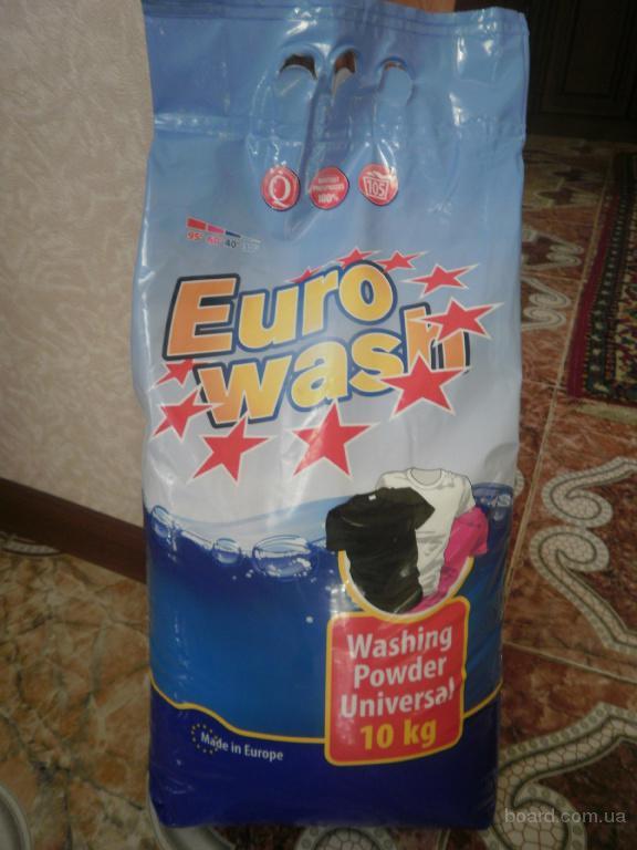 Стиральный порошок EURO WASH 10 кг,105стир