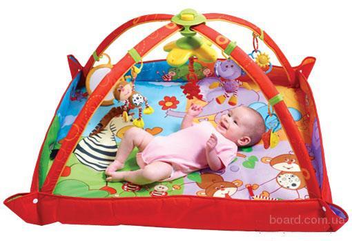 Tiny Love Развивающий коврик музыкальный с дугами 5 в 1 Разноцветное Сафари