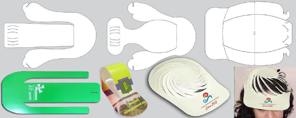 Изготовление бумажных кепок с рекламой