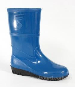 Резиновые сапоги синего цвета
