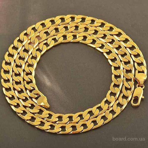 Цепочка венецианская покрытая золотом 14 Карат