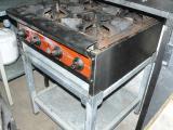 Купить плиту б/у CustomHeat ТТ4-24CE профессиональную газовую промышленную 4-х конфорочную настольную
