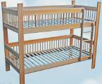 Деревянная двухъярусная кровать недорого из бука