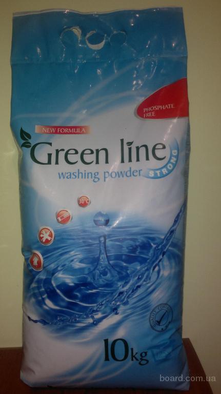 Стиральный порошок Green Line 10кг/125стирок(новая формула)