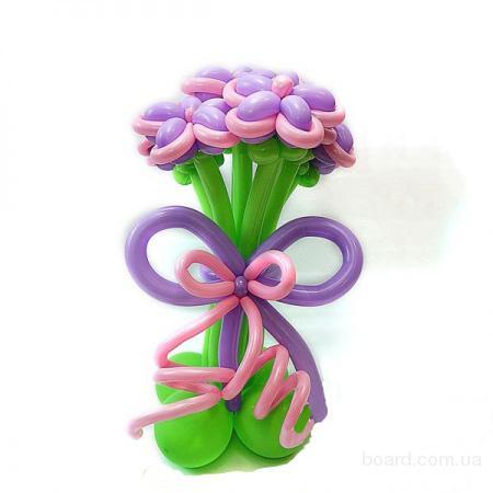 Оригинальные Цветы из шаров, Красивые Букеты из воздушных шариков