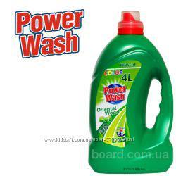 Гель для стирки Power Wash 4 л (зеленый - аромат яблока) Германия