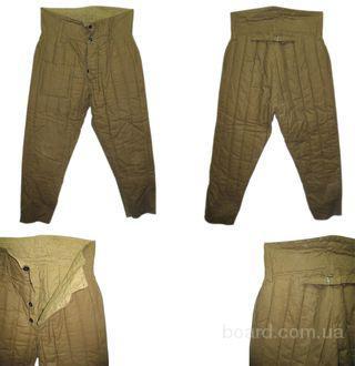 брюки, штаны, (шаровары) ватные СССР
