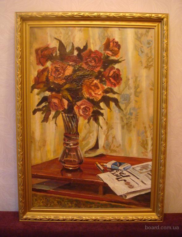 Продам картину -  «Натюрморт » - работа начала 80 гг.