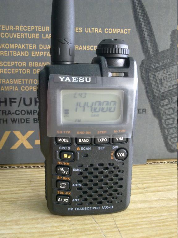 Yaesu VX-3R, радиостанция, рация-сканнер