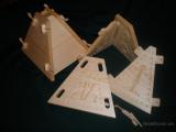 Деревянная форма для творожной пасхи.Пасочница из дерева 0,8литра
