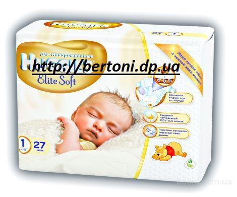 Детские памперсы Huggies Elite Soft 1 (0-5кг) 27 шт , 2 (4-7)