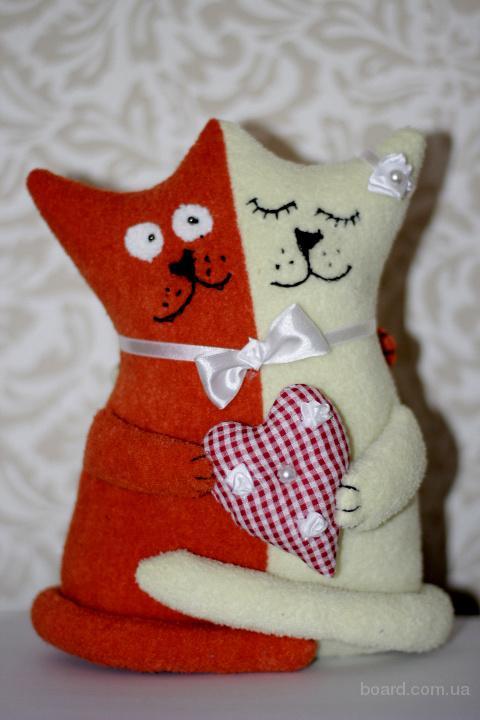 Прикольный подарок для влюбленных - коты-неразлучники (ручная работа, хэнд-майд)