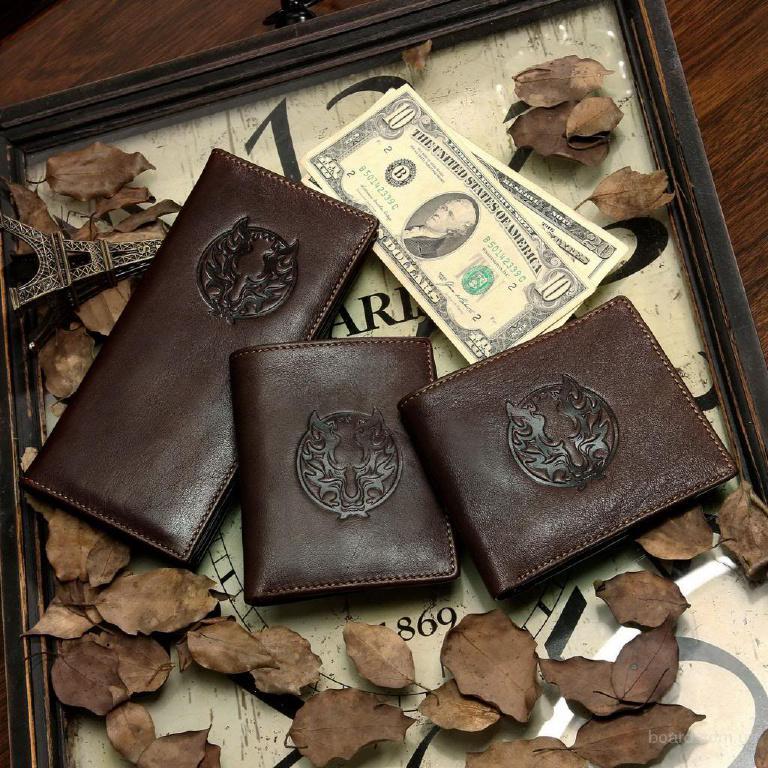 Кошелек портмоне клатч из превосходной винтажной кожи в ассортименте