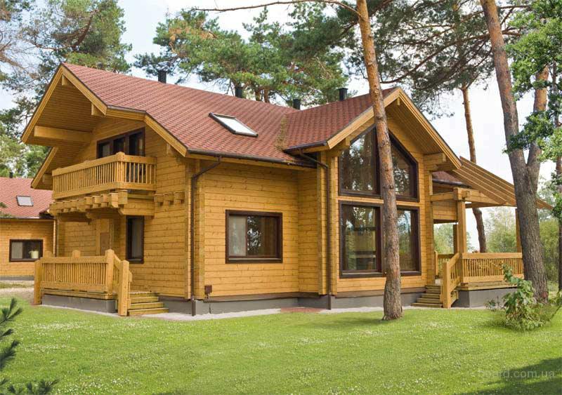 Современные деревянные дома из клееного бруса от производителя
