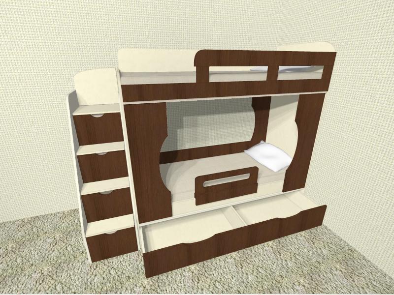 2-х ярусная кровать фото
