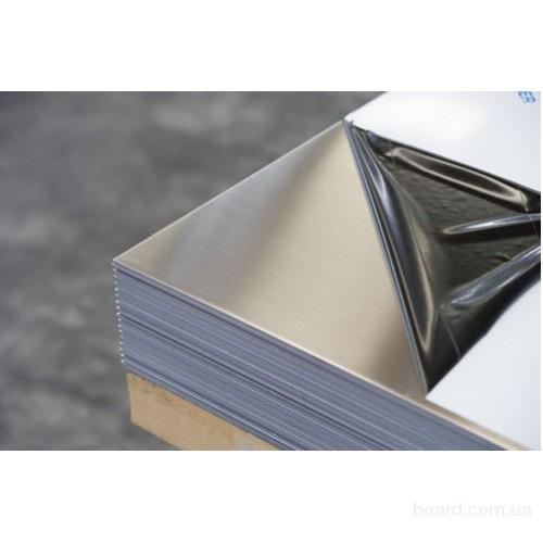 Лист н/ж  0,8 х1,25х2,5  AISI 304  (шлифованый+пленка)